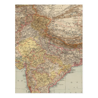 Central Asia, India Postcard
