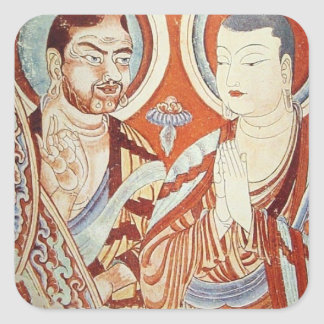 Central Asian Buddhist Monks Square Sticker