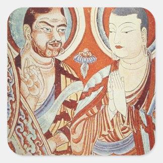 Central Asian Buddhist Monks Square Sticker