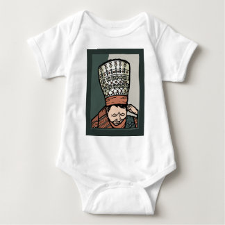 Central Asian Woman Thinking (in hat) Baby Bodysuit