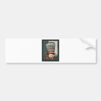 Central Asian Woman Thinking (in hat) Bumper Sticker