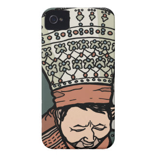 Central Asian Woman Thinking (in hat) Case-Mate iPhone 4 Case