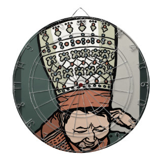 Central Asian Woman Thinking (in hat) Dartboard