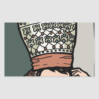 Central Asian Woman Thinking (in hat) Sticker