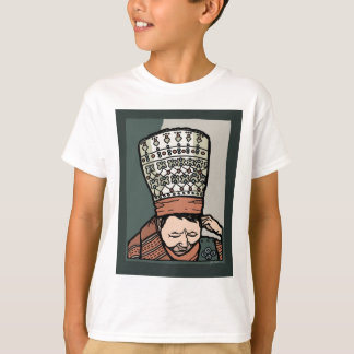 Central Asian Woman Thinking (in hat) T-Shirt