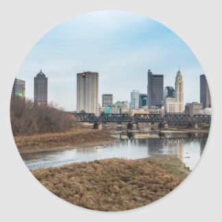 Central Business District Columbus, Ohio Classic Round Sticker