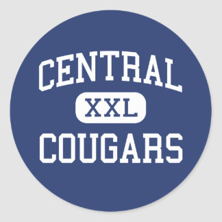 Central Cougars Middle Greenwich Connecticut Round Sticker