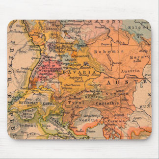 Central Europe Antique Map Mouse Pad
