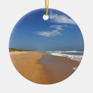 Central Florida Beach Round Ceramic Ornament