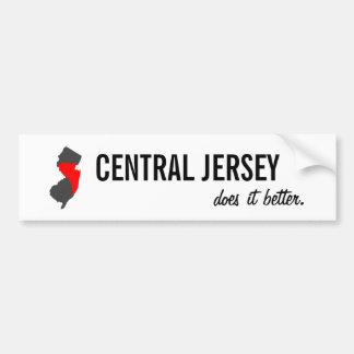 """""""Central Jersey Does it Better"""" NJ Bumper Sticker"""