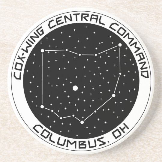 Central Ohio X-Wing Central Command Drink Coaster