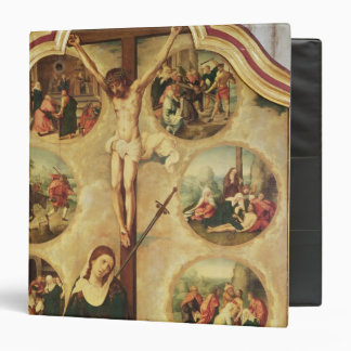 Central panel of a triptych vinyl binder