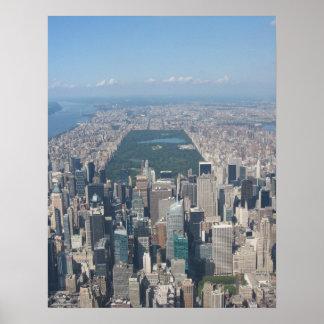 Central Park Aerial Poster