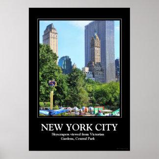 Central Park Amusement Park, Skyscraper backdrop Poster