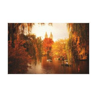 Central Park Autumn Romance Canvas Print