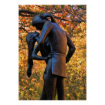 Central Park Autumn: Romeo & Juliet Statue 01 Poster