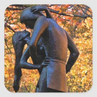 Central Park Autumn: Romeo & Juliet Statue 01 Square Sticker
