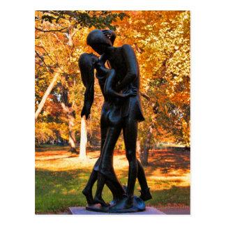 Central Park Autumn: Romeo & Juliet Statue 02 Postcard