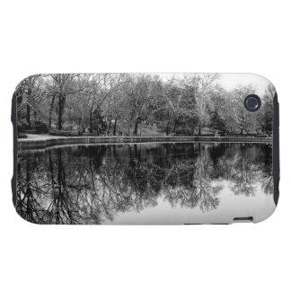 Central Park Black and White Landscape Photo iPhone3 Case