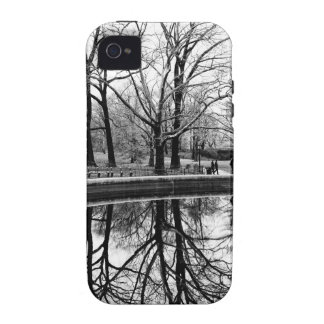 Central Park Black and White Landscape Photo Vibe iPhone 4 Covers