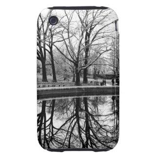 Central Park Black and White Landscape Photo iPhone 3 Tough Case