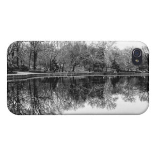 Central Park Black and White Landscape Photo iPhone 4 Cases