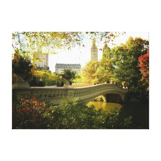 Central Park - Bow Bridge - Autumn Canvas Print