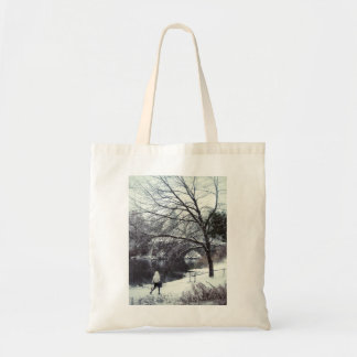 Central Park Bridge On A Blustery Day Tote Bag