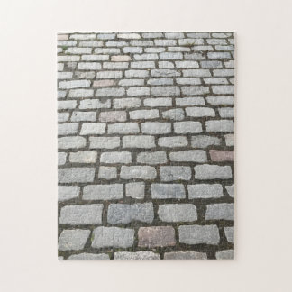 Central Park Cobblestones Stone Pathway NYC Photo Jigsaw Puzzle