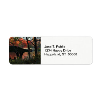 Central Park: Conversation Across From Bow Bridge Return Address Label