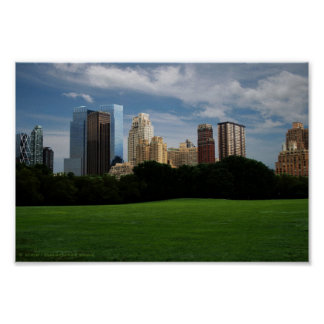 Central Park - empty Poster