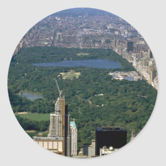 Central Park from the south, New York City, USA Round Sticker