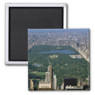 Central Park from the south, New York City, USA Square Magnet