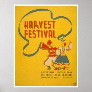 Central Park Harvest 1936 WPA Poster