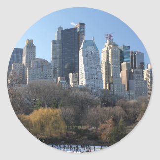 Central Park Ice Rink Classic Round Sticker
