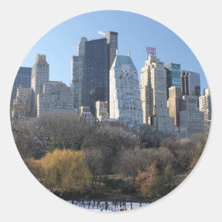 Central Park Ice Rink Round Sticker