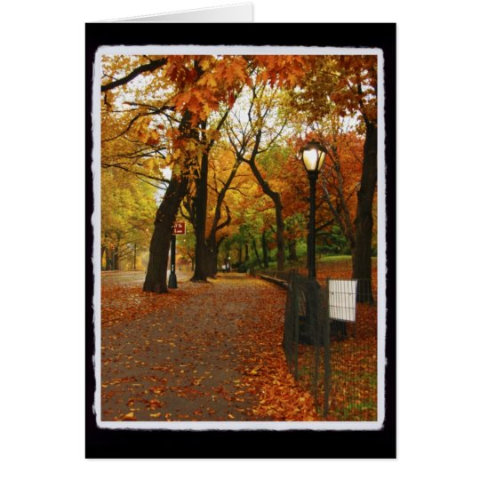 Central Park in Autumn Card