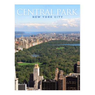 central park in new york postcard
