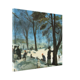 Central Park In Winter, 1905 Gallery Wrap Canvas