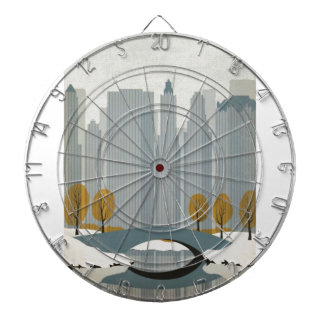 Central Park In Winter Dartboard With Darts