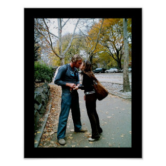 Central Park Kiss Poster