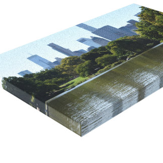 Central Park Lake New York City NYC Skyline Photo Canvas Print