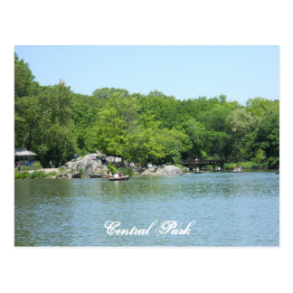 Central Park Lake Postcard Souvenir New York City