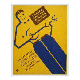 Central Park Musical 1936 WPA Poster