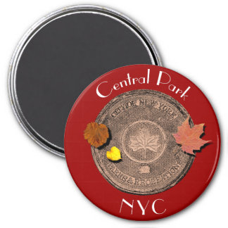 Central Park New York City 3 Inch Round Magnet