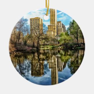 Central Park New York City NYC Round Ceramic Ornament