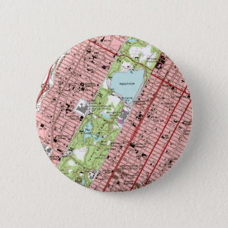 Central Park New York City Vintage Map 2 Inch Round Button