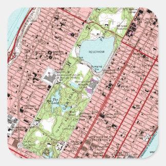 Central Park New York City Vintage Map Sticker
