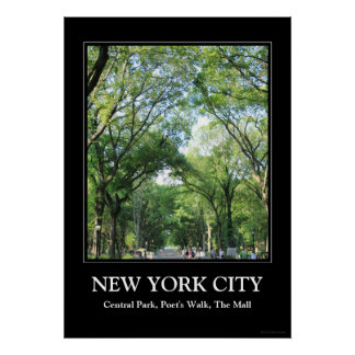 Central Park: Poet's Walk in the Summer Poster