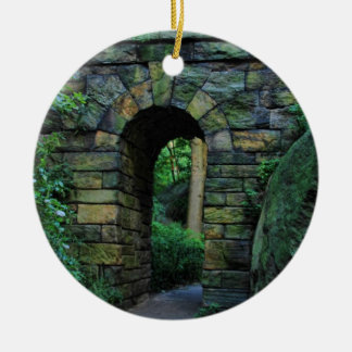 Central Park: Ramble Stone Arch Ceramic Ornament